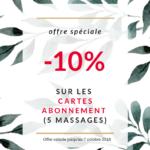 cartes abonnement, massages bien-être, offre promotionnelle